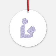 Snowflake Library Logo Ornament (Round)