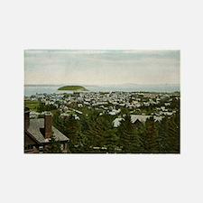 Bird's Eye View Bar Harbor Maine Vintage Rectangle