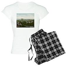 Bird's Eye View Bar Harbor Maine Vintage Pajamas