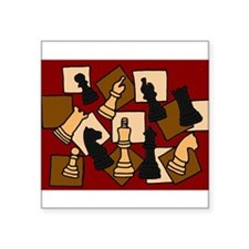 Chess Pieces Abstract Art Sticker