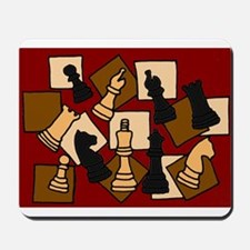 Chess Pieces Abstract Art Mousepad