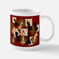 Chess Pieces Abstract Art Mug