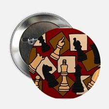 """Chess Pieces Abstract Art 2.25"""" Button"""