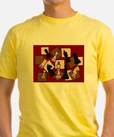 Chess Pieces Abstract Art T-Shirt