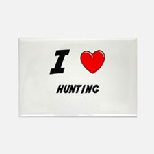 HUNTING Rectangle Magnet