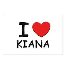 I love Kiana Postcards (Package of 8)