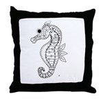 emma walters memories.seehorse. Throw Pillow