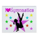 Girls gymnastics Wall Calendars