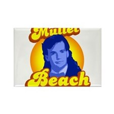 Mullet Beach Rectangle Magnet