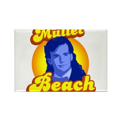 Mullet Beach Rectangle Magnet