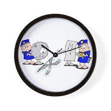 Paper Rock Scissors Wall Clock