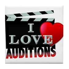 I Love Auditions Tile Coaster