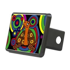 Turtle Abstract Art Hitch Cover
