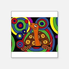 Turtle Abstract Art Sticker