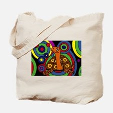 Turtle Abstract Art Tote Bag