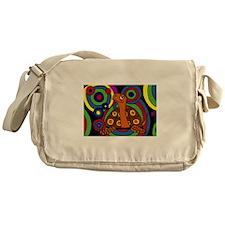 Turtle Abstract Art Messenger Bag