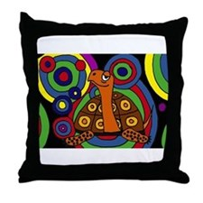 Turtle Abstract Art Throw Pillow
