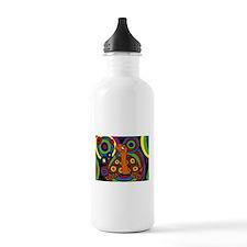 Turtle Abstract Art Water Bottle