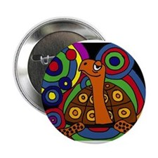 """Turtle Abstract Art 2.25"""" Button"""