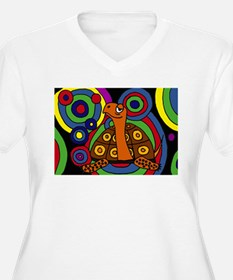 Turtle Abstract Art Plus Size T-Shirt