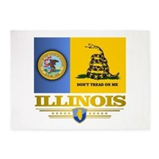 Illinois Gadsden Flag 5'x7'Area Rug