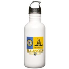 Illinois Gadsden Flag Water Bottle