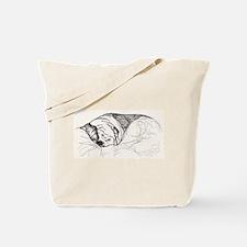 Bulldog in Pen and Ink Tote Bag