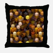 SteamCubism - Brass - Throw Pillow