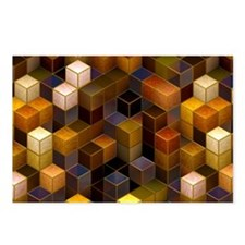 SteamCubism - Brass - Postcards (Package of 8)