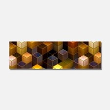 SteamCubism - Brass - Car Magnet 10 x 3