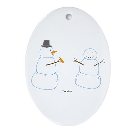 Snowman Donor The Gift Oval Ornament