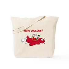 Santa in Airplane Tote Bag