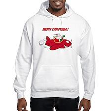 Santa in Airplane Hoodie