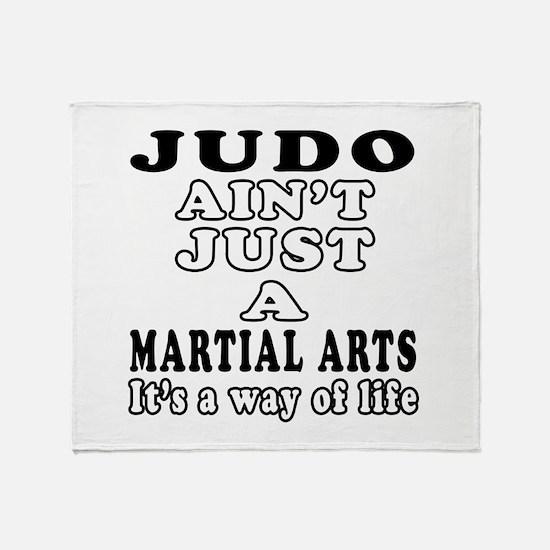Judo Martial Arts Designs Throw Blanket