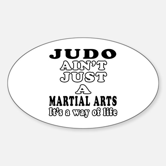 Judo Martial Arts Designs Sticker (Oval)