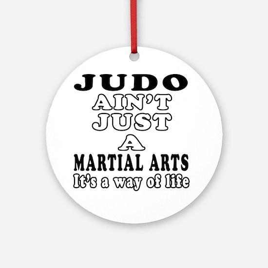 Judo Martial Arts Designs Ornament (Round)