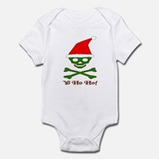 Skull & Crossbones Santa Infant Bodysuit