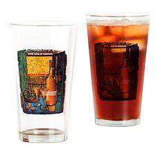 Vintage California Wine Travel Drinking Glass