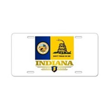 Indiana Gadsden Flag Aluminum License Plate