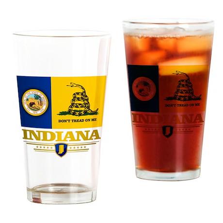 Indiana Gadsden Flag Drinking Glass