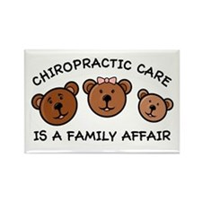 Chiro Bear Family Affair Rectangle Magnet