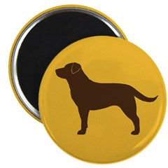 "Chocolate Lab 2.25"" Magnet (10 pack)"