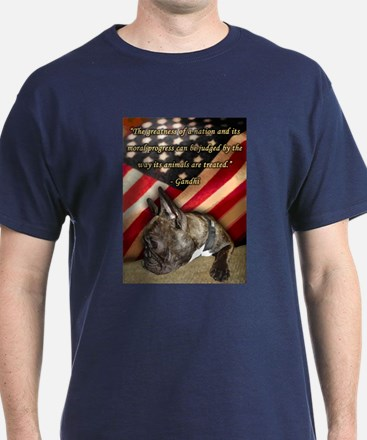 Gandhi Frenchie T-Shirt