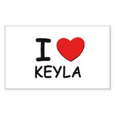 I love Keyla Rectangle Decal