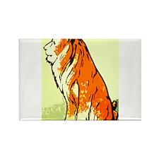 No Lion Rectangle Magnet
