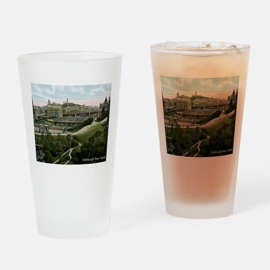 Edinburgh, Scotland, Vintage Drinking Glass