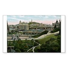 Edinburgh, Scotland, Vintage Decal