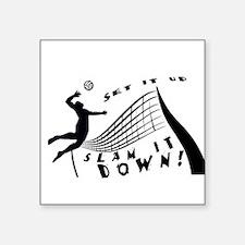 "Slam It Down Square Sticker 3"" x 3"""