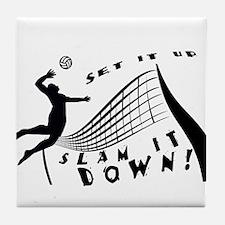 Slam It Down Tile Coaster