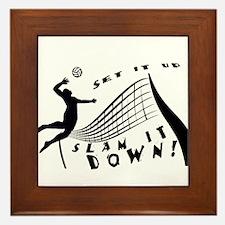 Slam It Down Framed Tile